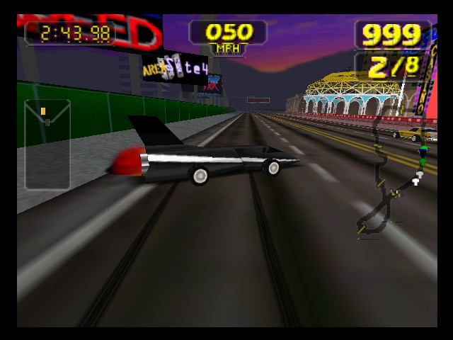 Rush 2 - Extreme Racing USA - Rocket car drifting - User Screenshot